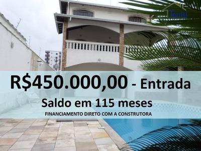Casa Em Praia Grande, 04 Dormitórios Sendo 01 Suite, Com Lazer No Caiçara Ca0062 - Ca0062