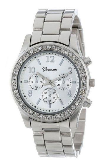 Reloj De Dama Metalico Elegante Con Pedreria Resistente