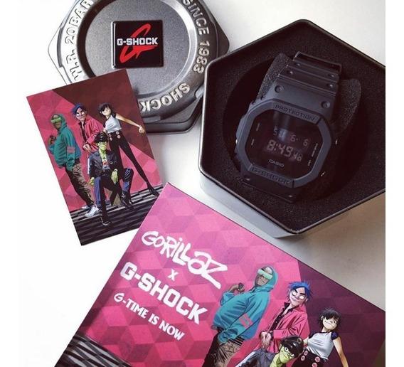 Relógio Casio G Shock X Gorillaz Dw5600bb1dr Preto Original