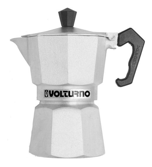 Cafetera Volturno Clásica 3 Pocillos Aluminio