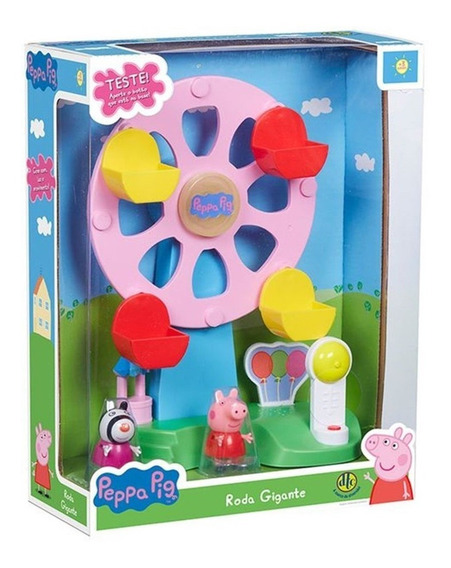 Conjunto Playset Peppa Pig Roda Gigante Original Dtc