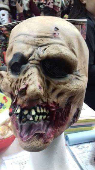 Mascara Zombie Caminante Halloween Latex Chirimbolos