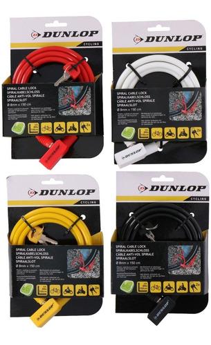 Tranca Candado Bicicleta Moto Cable Linga Dunlop 150 Cm 8 Mm
