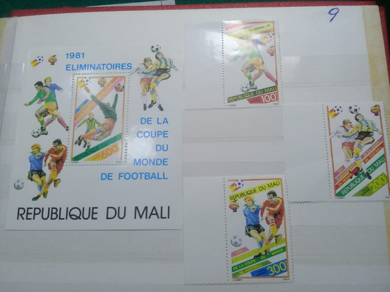 Serie De 3 Sellos Y 1 Bloque De Mali- Mundial España 82