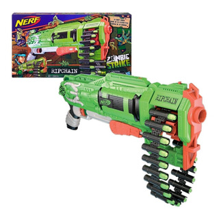 Pistola Ametralladora Nerf Zombie Strike Ripchain 25 Dardos