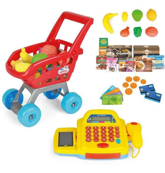 Mini Mercado Homeplay 3111 Com Carrinho