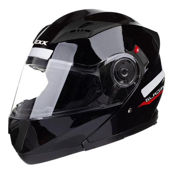 Capacete para moto escamoteável Texx Gladiator preto L