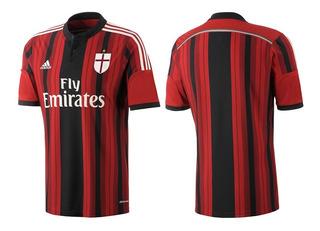Camisa adidas Milan I 2014-2015 Vermelho-preto S/nº