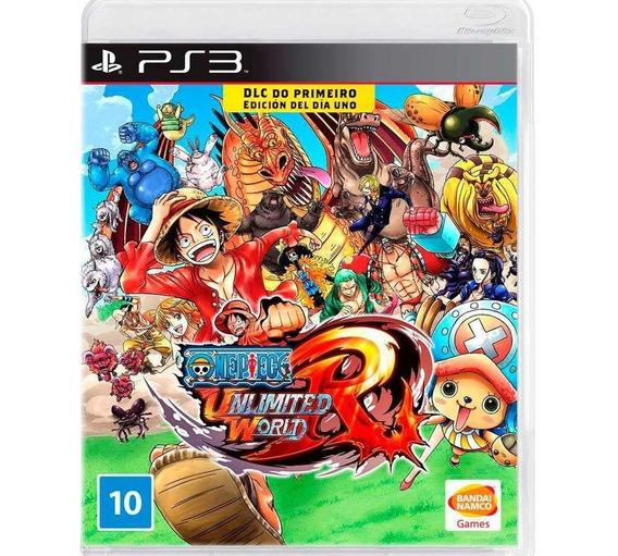 One Piece Unlimited World Red Dlc Ps3 Lacrado Mídia Física
