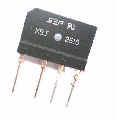 Kbj2510 2510 Dip4 Puente Rectificador Flat 25 A 1000 V