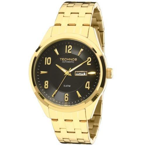 Relógio Masculino Technos Dourado Automático 8205ni/4p Novo!
