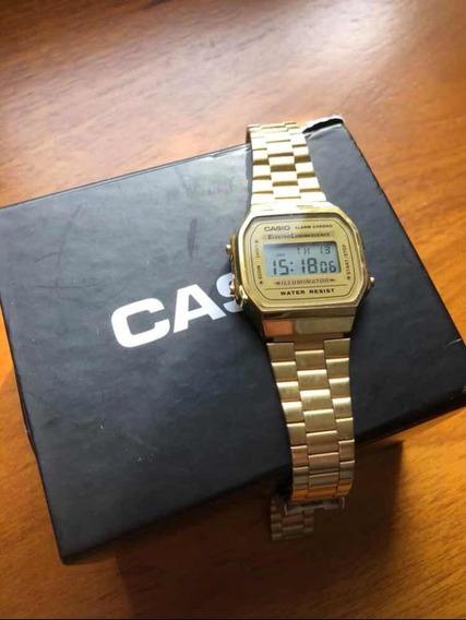 Relógio Casio Gold Vintage Original + Caixa -
