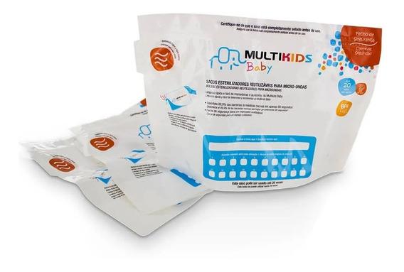 Saco Para Esterilizar Mamadeira Bebe Microondas - 6 Und