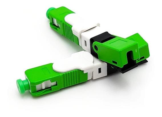 10 Conectores Reutilizáveis Fibra Óptica Ftth Sc Apc