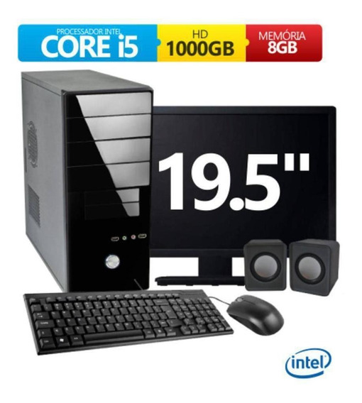 Pc Clássico Business Intel Core I5 8gb 1tb Mon Led 19,5 Kit