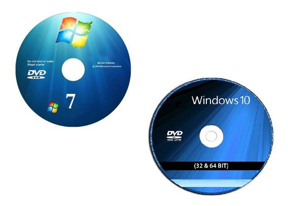 Cd Instalaçã Wind©ws 7 + 10 + Drive E Office