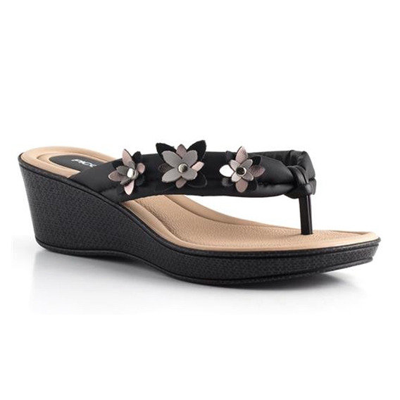 Chinelo Anabela Piccadilly 540212 C/ Enfeite Floral