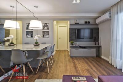 The Five Batel - Flat 2 Dormitórios Totalmente Mobiliado, Altíssimo Padrão! 2 Quartos Com Varanda Gourmet. Veja Detalhes. - Fl0003
