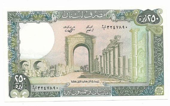 Cedula Estrangeira - Libano - 250 Libras - Fe