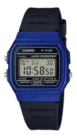 Relógio Casio Vintage Unissex F-91wm-2adf