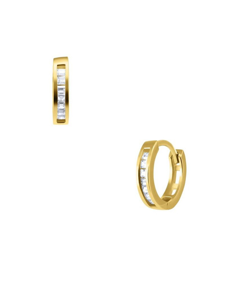 Arracadas Bizzarro De Oro Amarillo Con Zircon-gd12e5411ay-19