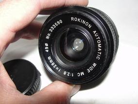 Lente Rokinon Automatica Wide Mc 1:2.8 F=28mm