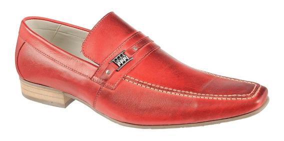 Sapato Mocassim Casual Modelo Italiano 100% Couro Costurado