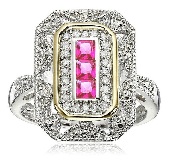 Anel Banhado Ouro Feminino Formatura Rosa Contábil 589 I