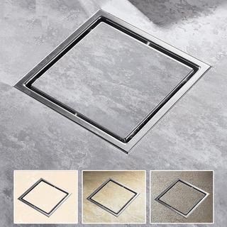 Coladera Cuadrada Doble Vista 11x11 Acero Inox Rebosadero
