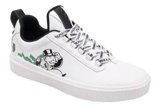 Tenis Casual K-swiss Mr Swisswhite/green Hombre Hg1703