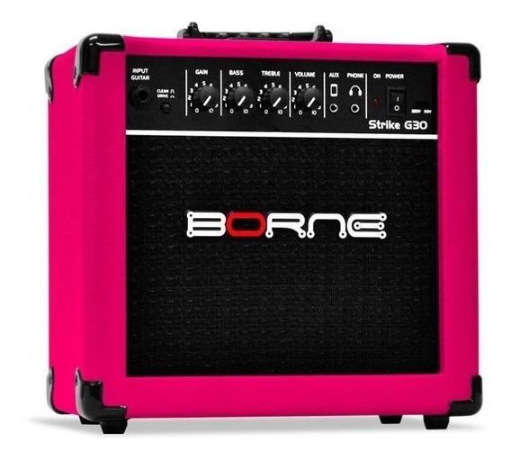 Amplificador Borne Strike G30 15W rosa 110V/220V