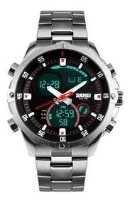 Relógio Masculino Skmei Esportivo 1146 Prata Nota Fiscal