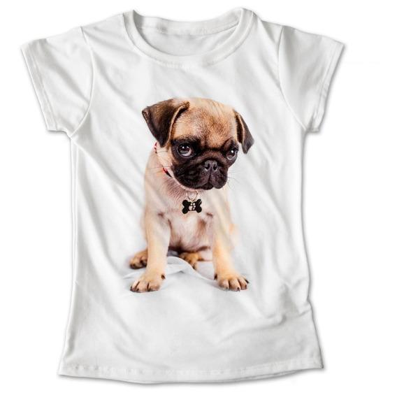 Blusa Dama Niña Perro Pug Playera Mascota #882