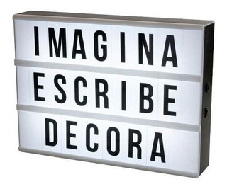 Cartel Led Letras Intercambiables T/colores
