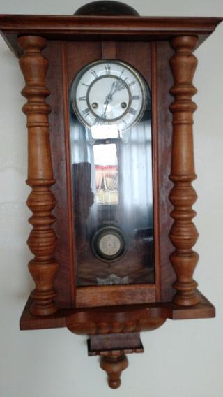 Relógio De Parede Antigo Alemão - Ra