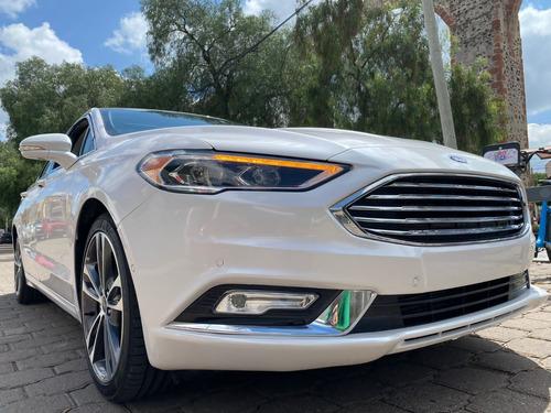Imagen 1 de 14 de Ford Fusion Titanium Ecoboost Blanco 2018 At Dakkar Autos
