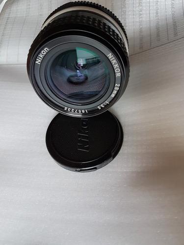 Lente Da Nikon Nikkor Auto 28mm F/3.5 Excelente Estado
