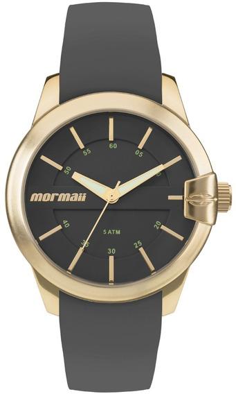 Relógio Mormaii Feminino Mo2036io/8p Cinza Dourado Analogico