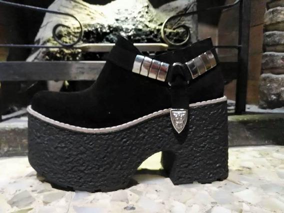 Zapatos De Mujer Botinetas Con Tachas Plataform Liquidacion