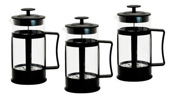 Cafetera Individial Prensa Francesa 350ml De Vidrio 3 Piezas