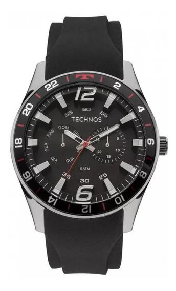 Relógio Technos Masculino Preto Vermelho 6p25bn/8p