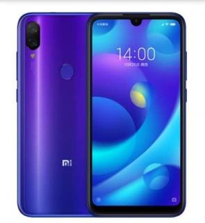 Xiaomi Mi Play 4/64gb Azul Y Negro*145v Vidrio+adaptador
