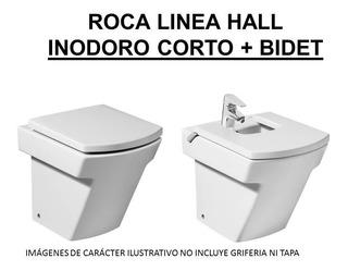 Inodoro Roca Hall Corto + Tapa + Bidet
