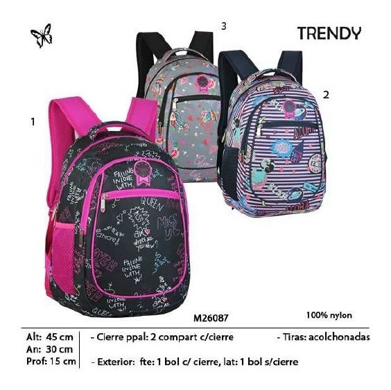 Mochila Trendy 26087