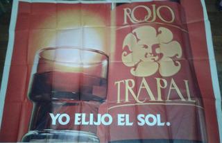 Afiche Calle Publicidad Vino Trapal Colección