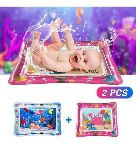 Tapete Água Inflável Atividades Bebê Almofada 2 Pcs
