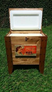 Cooler Térmico Rústico Coca Cola