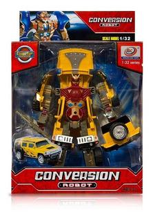 Conversion Robot Autos Transformables Con Sonidos 1:32 Ck