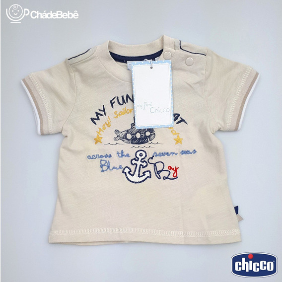Camiseta Chicco My First - 6 Meses