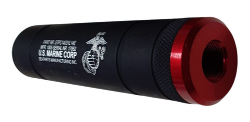Supressor Funcional Airsoft 140mmx31mm Rosca Esquerda